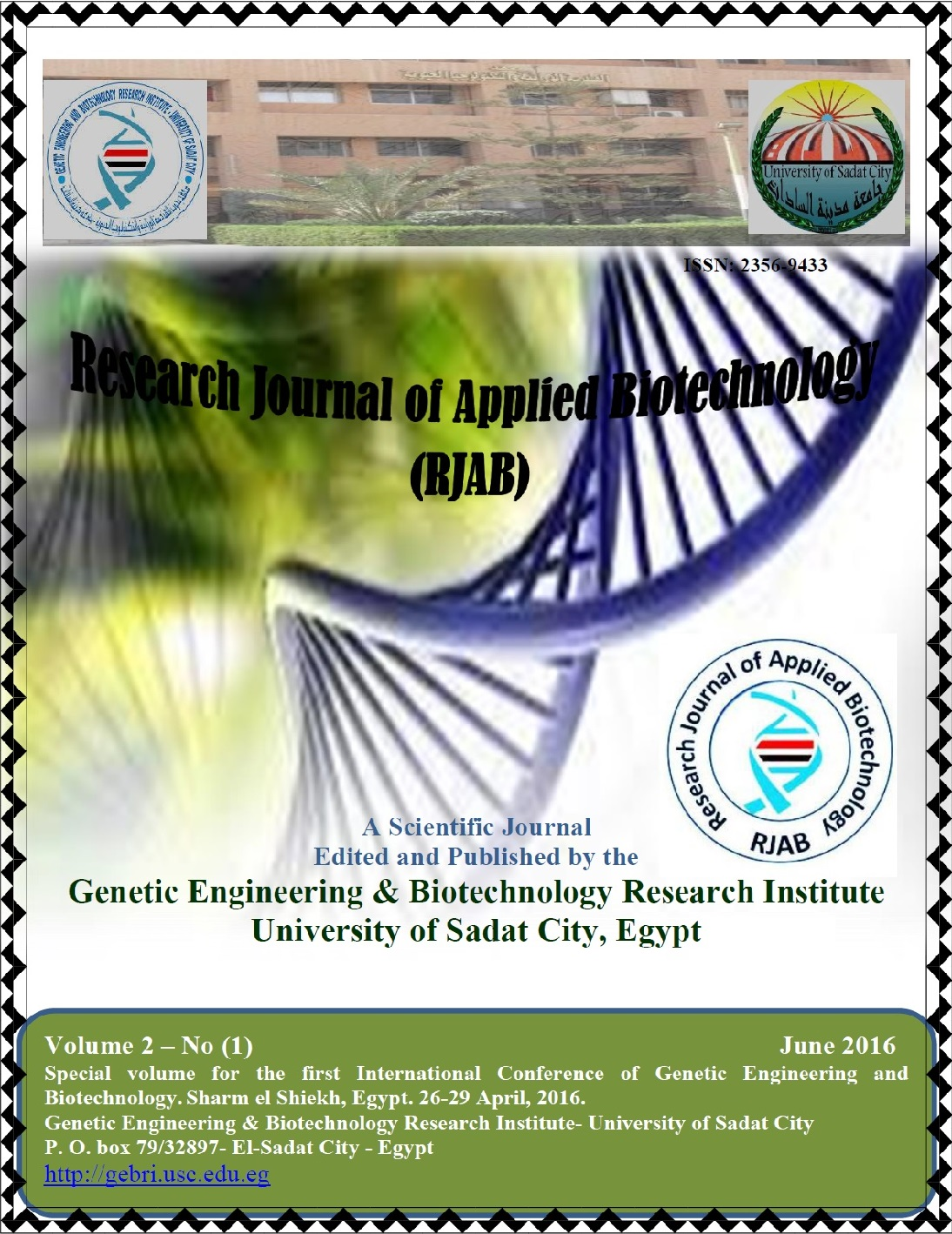 Research Journal of Applied Biotechnology